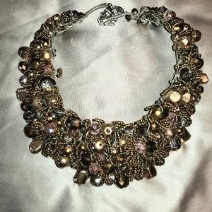 Aldo Harmonie Beaded Collar Necklace.